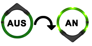 LED Leuchthalsband LEUCHTIE Sensortechnik